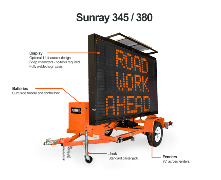 SUNRAY 345/380 MESSAGE SIGN Preview Image
